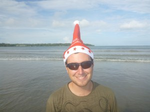 Me on the beach on Christmas day
