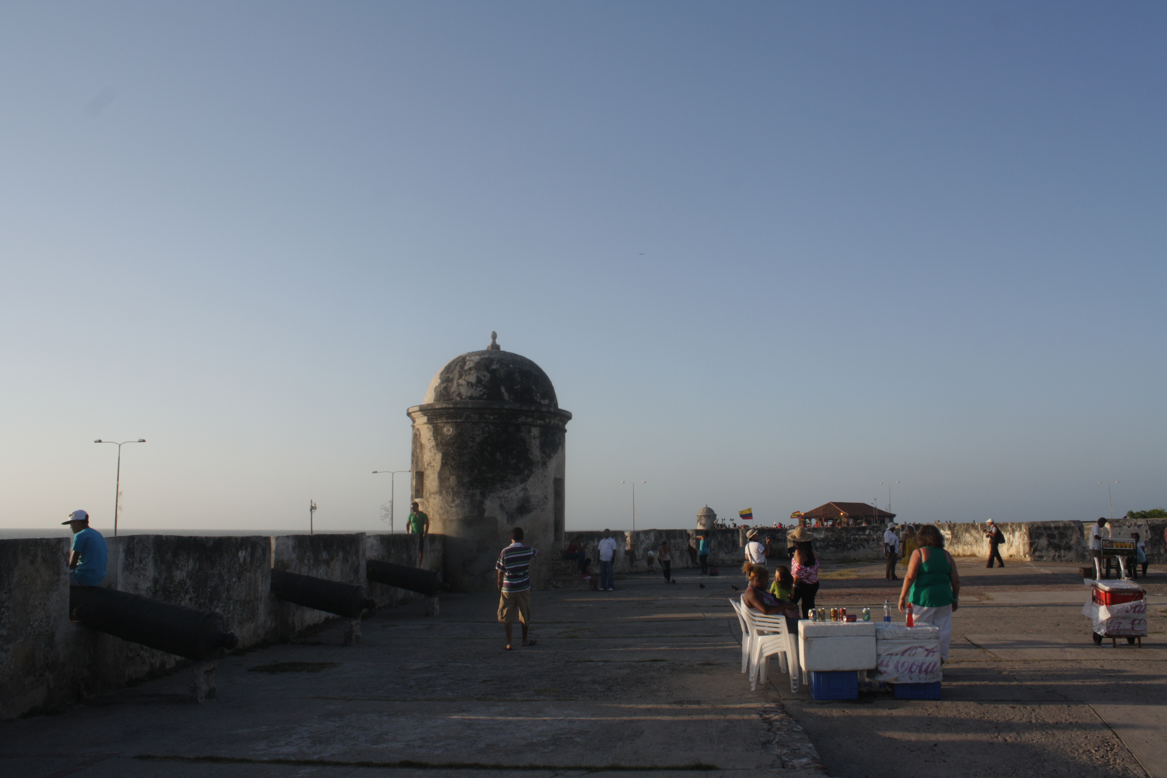 Old walls that used to protect Cartagena from pirates and attacks