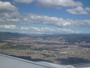 View of Quito from the sky