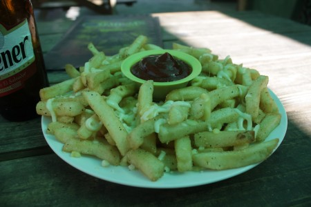 """Grab a feed from the many cafe's, restaurants and shops. Or if your a chip fanatic like me drop in to the Jaguar cafe for some of their """"Jaguar Fries"""""""