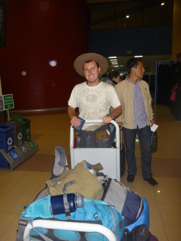 bags at cusco airport