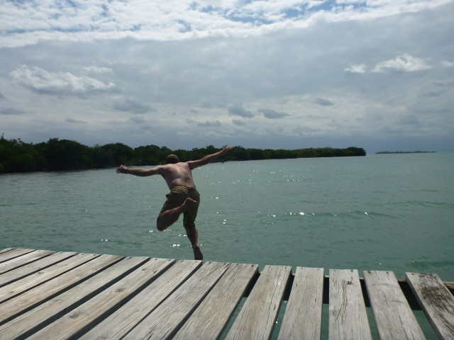 Sometimes you have to just take a leap of faith in life - Me In Caye Caulker Belize