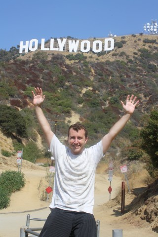 Me Visiting hollywood sign on my first backpacking adventure in Los Angeles in September last year