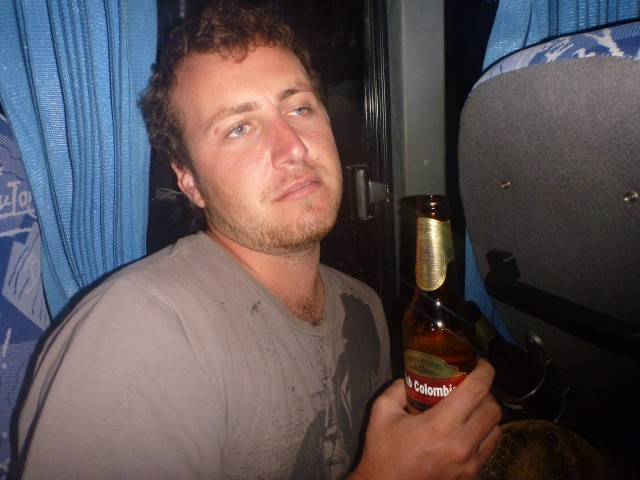 Me feeling a bit over travelling after a long day on a bus in Colombia :P