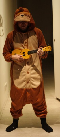 Still sad that I couldn't fit my sloth Onesie and Ukulele in my pack :(