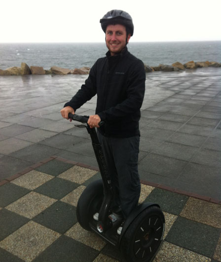 Riding a segway like a super villain in Galway Ireland