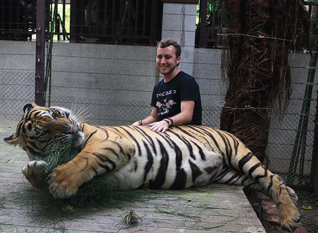 me with tiger
