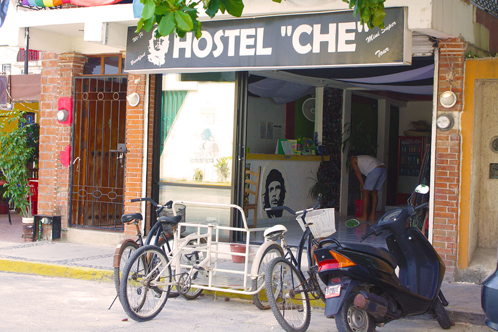 One of my very first hostel's in Mexico Playa Del Carmen